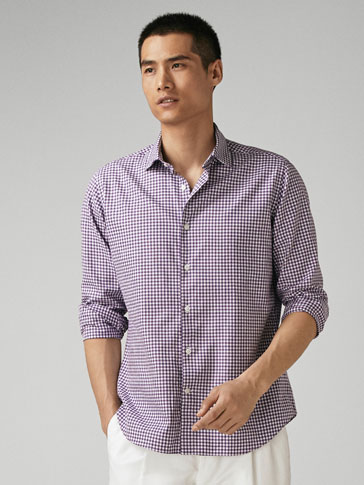 CAMICIA QUADRI VICHY SLIM FIT