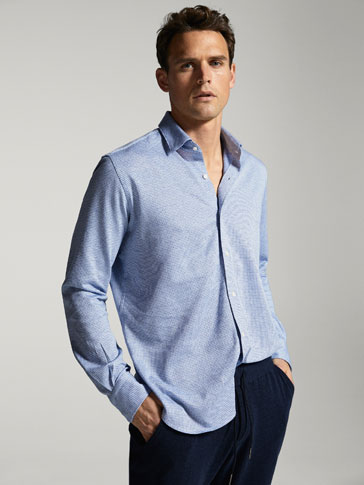 CAMISA PUNTO PATA DE GALLO SLIM FIT