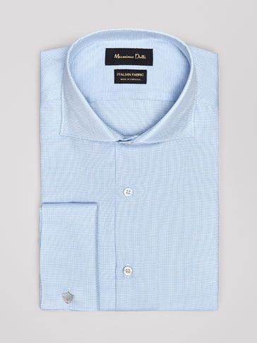 TRAVEL COLLECTION TAILORED FIT MICRO-TEXTURED WEAVE OXFORD SHIRT