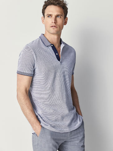 OXFORD POLO SHIRT WITH CONTRAST DETAIL
