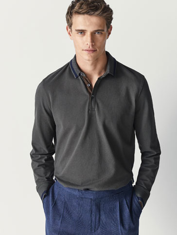 PLAIN POLO SHIRT WITH CONTRASTING DETAILS