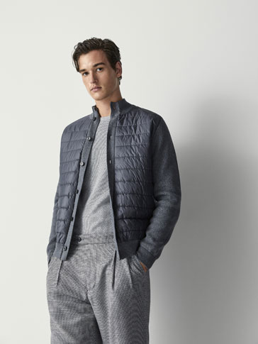 CARDIGAN WITH QUILTED DETAIL