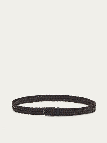 COMBINED BRAIDED LEATHER BELT