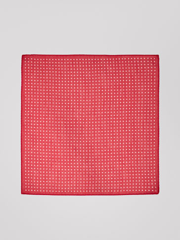 POLKA DOT SILK/COTTON HANDKERCHIEF