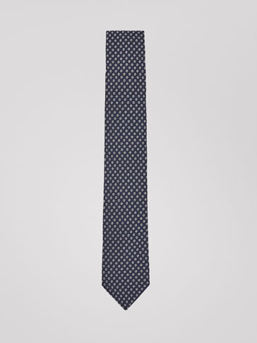 FLORAL PRINT SILK/COTTON TIE