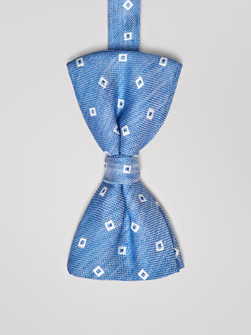 SILK BOW TIE WITH MOTIF