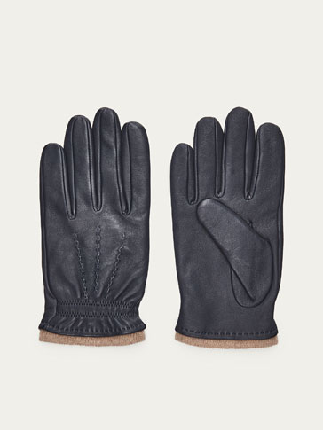 NAPPA GLOVES WITH CONTRASTING DETAIL
