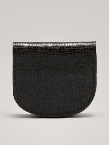 TWO-TONE EMBOSSED LEATHER PURSE