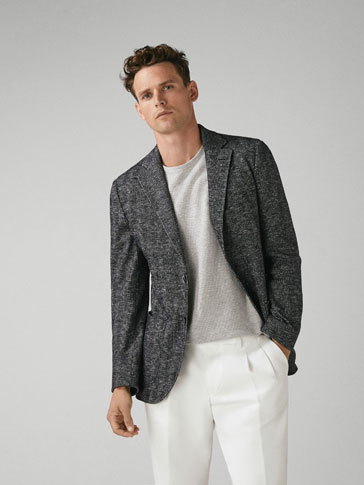 CHECKED WOOL SLIM FIT BLAZER