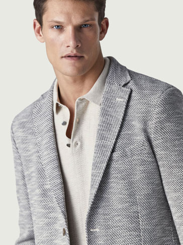 VESTE COTON STRUCTURÉE SLIM FIT