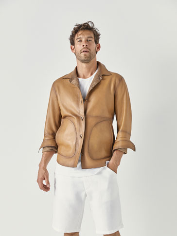 REVERSIBLE LEATHER OVERSHIRT