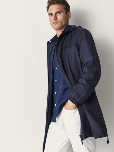 REVERSIBLE WOOL/TECHNICAL TRENCH COAT