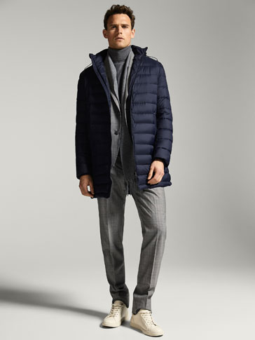 DOWN PUFFER THREE-QUARTER-LENGTH COAT