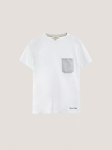 T-SHIRT WITH POCKET DETAIL