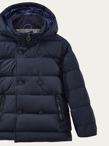 DOWN PUFFER JACKET WITH DOUBLE-BREASTED DETAIL