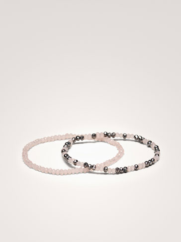 PACK OF TWO-TONE BRACELETS