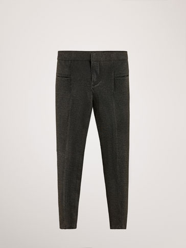 KNIT LEGGING-STYLE SKINNY TROUSERS