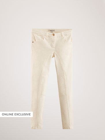 SKINNY TROUSERS WITH SEAM DETAILS