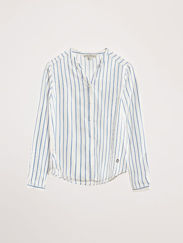 STRIPED SHIRT WITH SLITS DETAIL