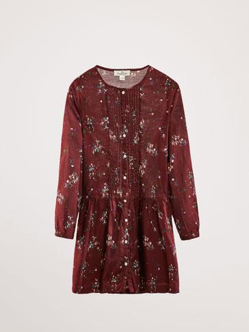 فستان مطبع زهور