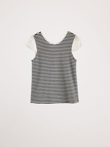 CONTRASTING STRIPED T-SHIRT