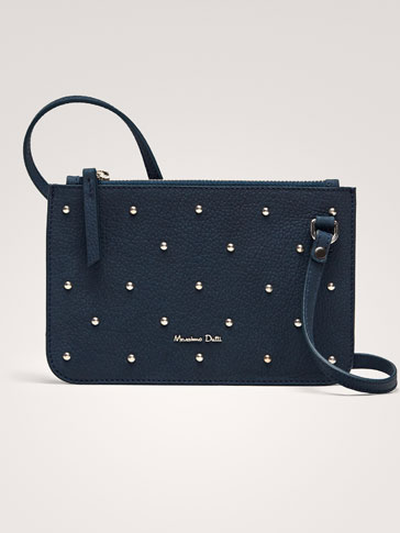 LEATHER BAG WITH STUD DETAILS