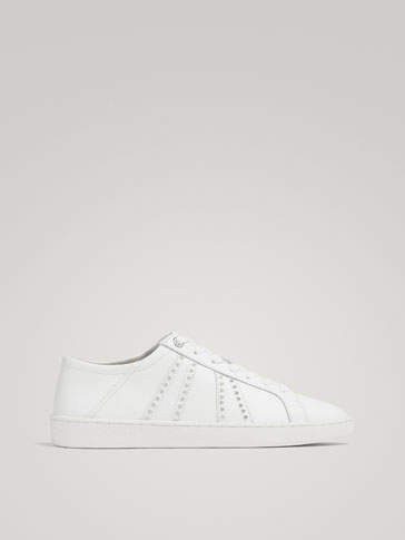 WHITE NAPPA SNEAKERS