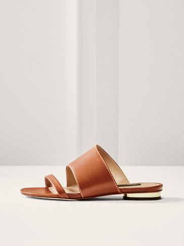 LIMITED EDITION TAN LEATHER SANDALS