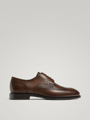 TAN LEATHER FULL BROGUES