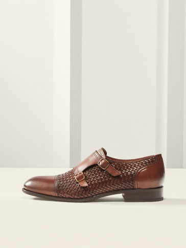 LIMITED EDITION DOUBLE MONK STRAP BRAIDED SHOES