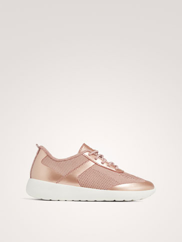 PINK FABRIC SNEAKERS