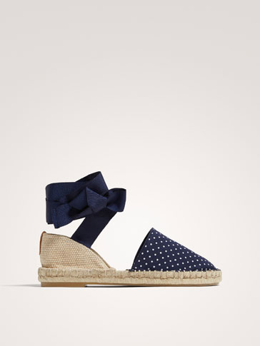 POLKA DOT ESPADRILLES WITH BOW
