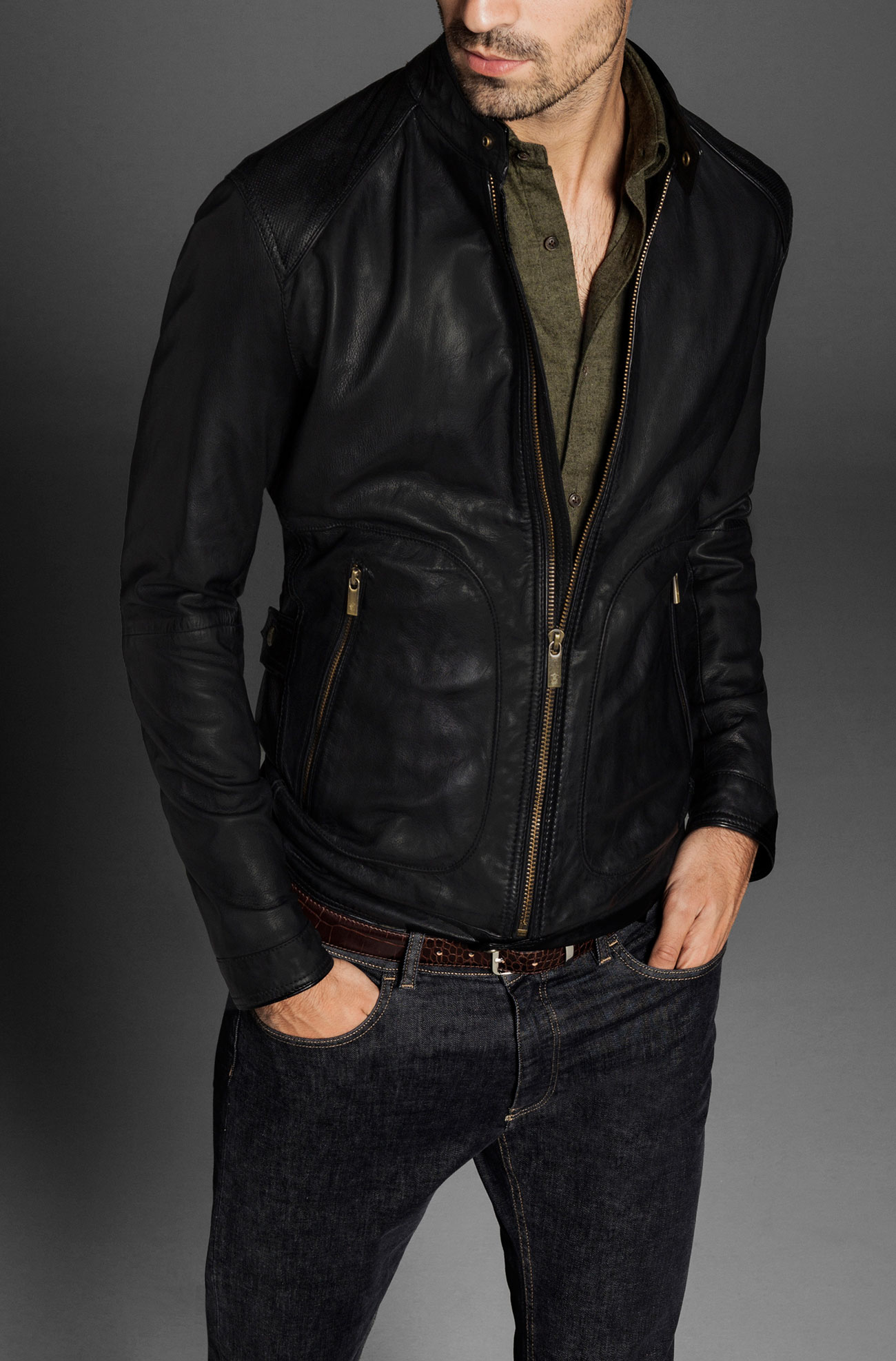 Are leather jackets in fashion for men 35