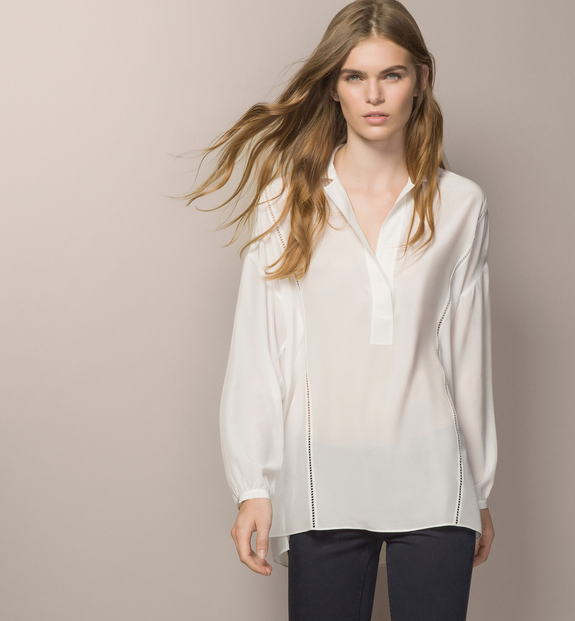 OPEN WORK LOOSE BLOUSE