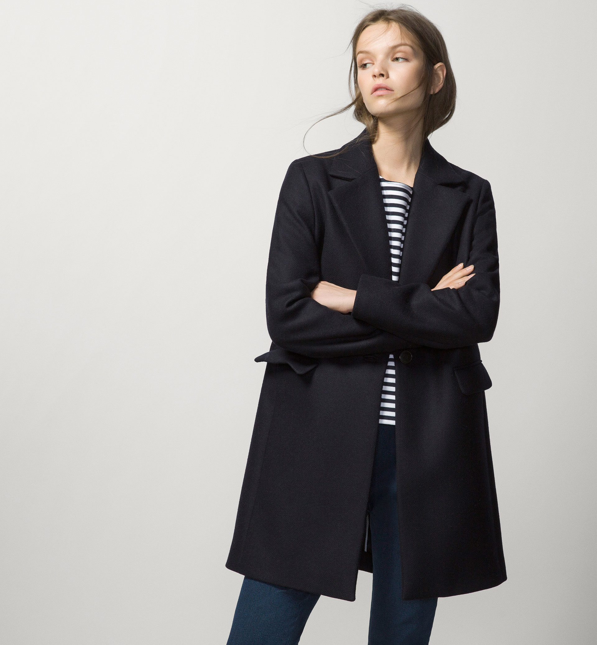 BASIC NAVY BLUE COAT