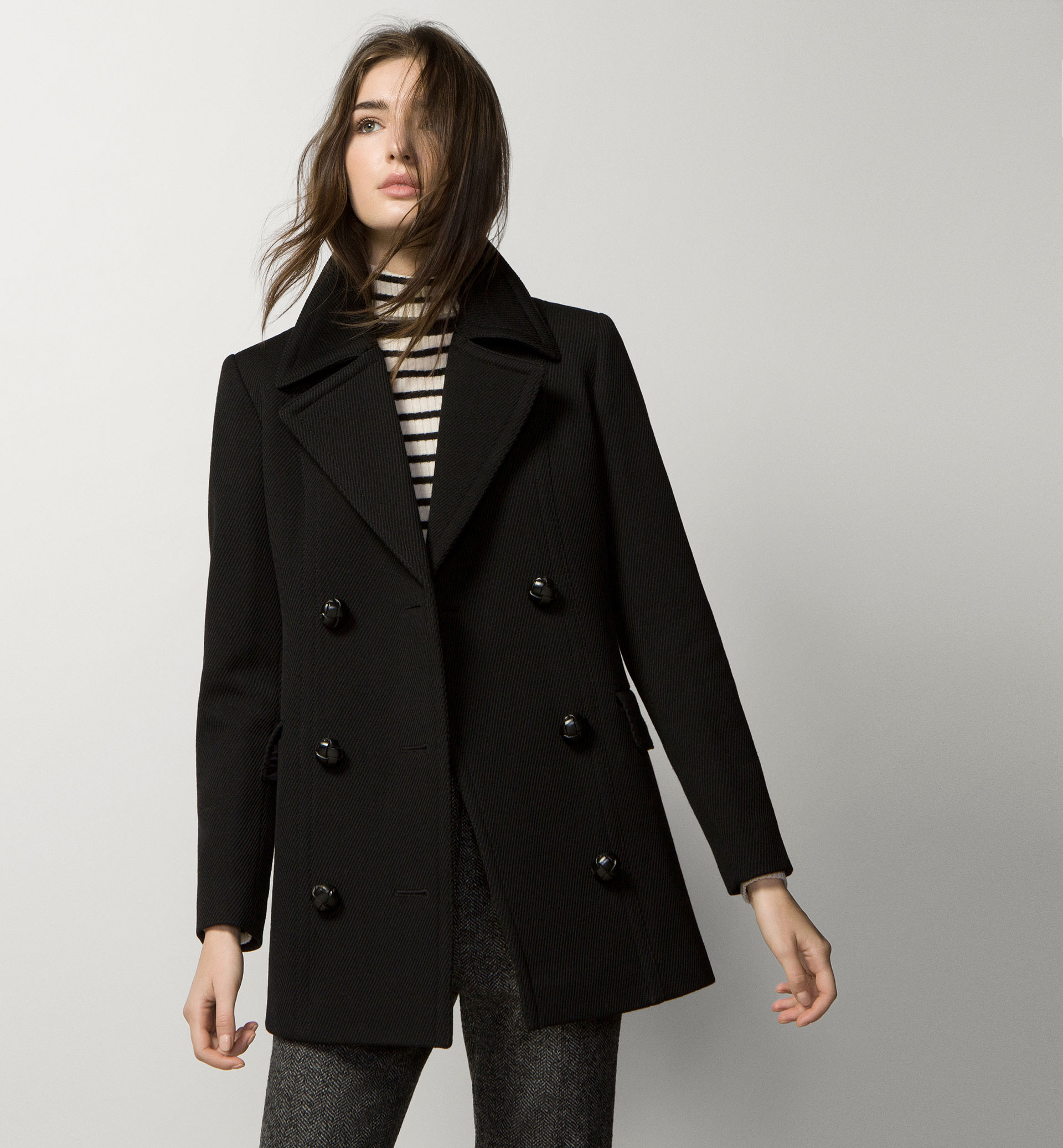 BLACK TABARD COAT