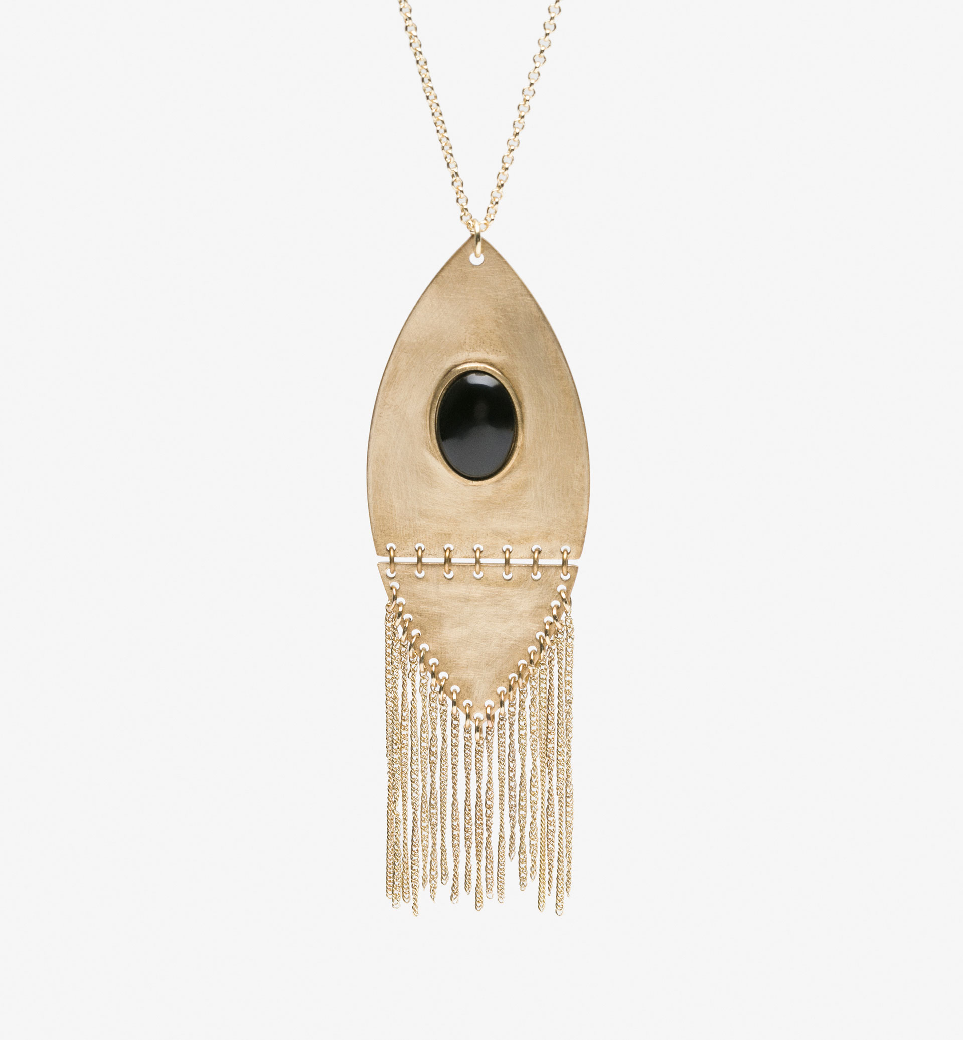 TRIBAL STYLE NECKLACE WITH FRINGING