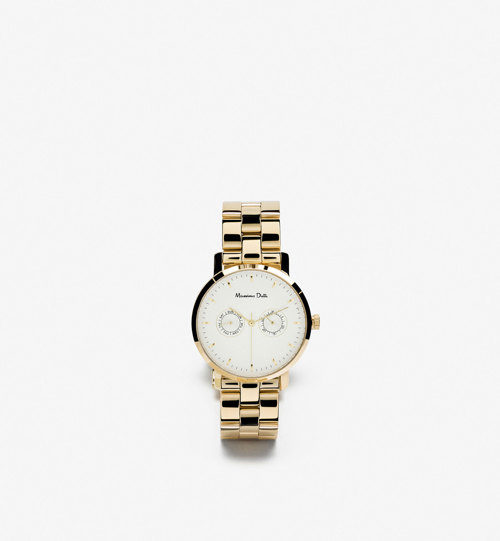 GOLDEN WATCH WITH DOUBLE STRAP