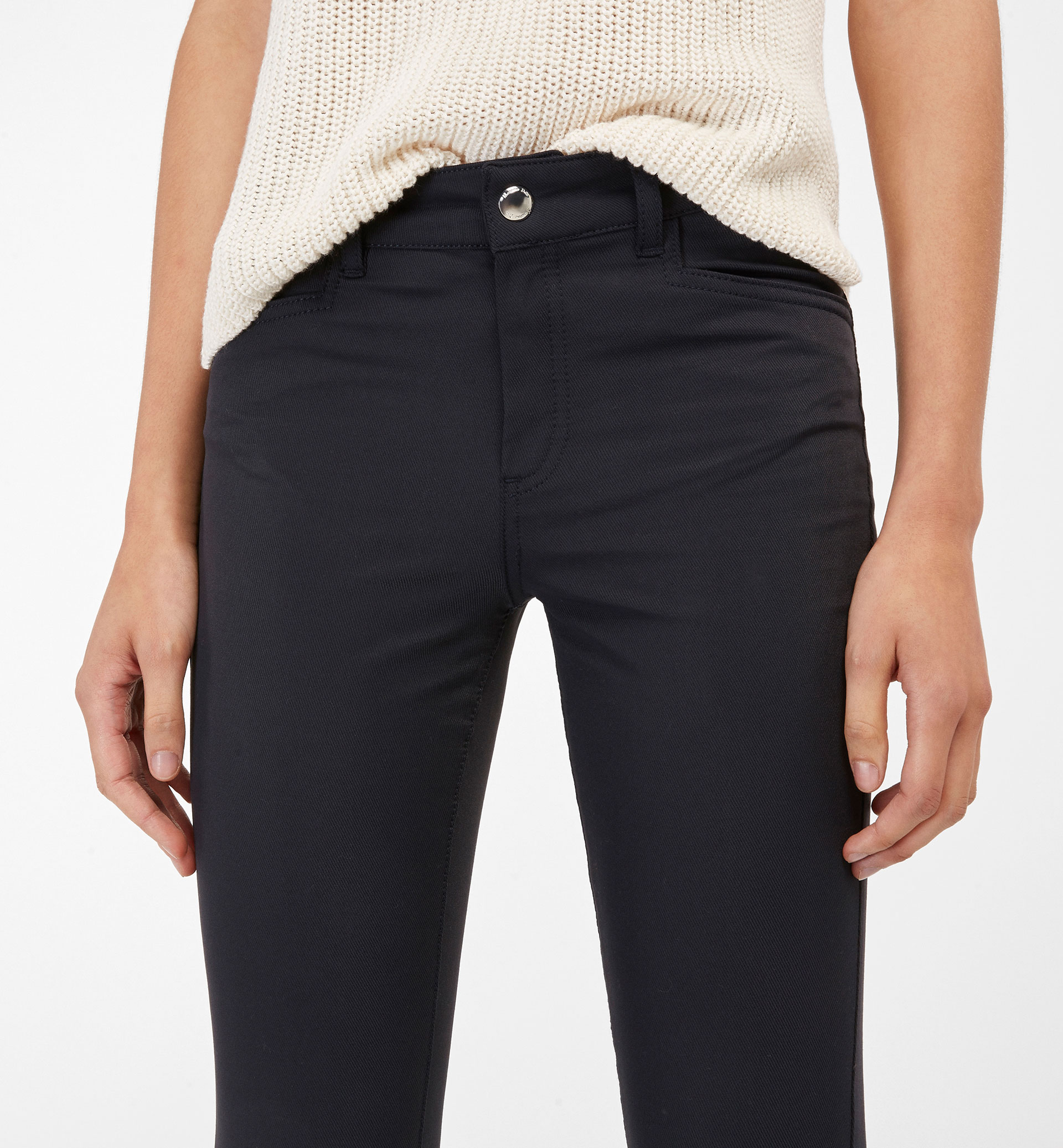 TROUSERS WITH TECHNICAL FABRIC DETAIL