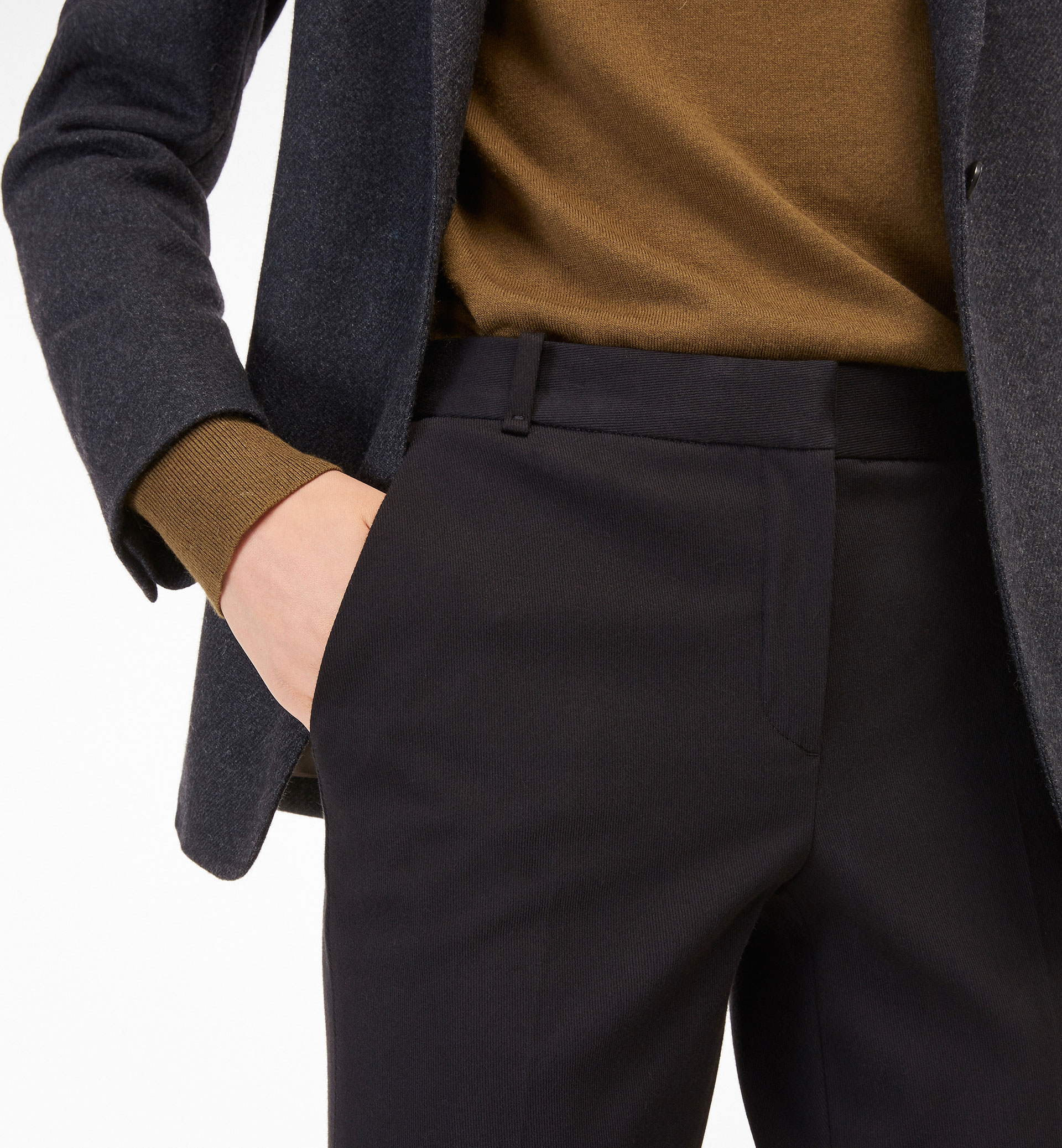 BASIC BLACK TWILL TROUSERS