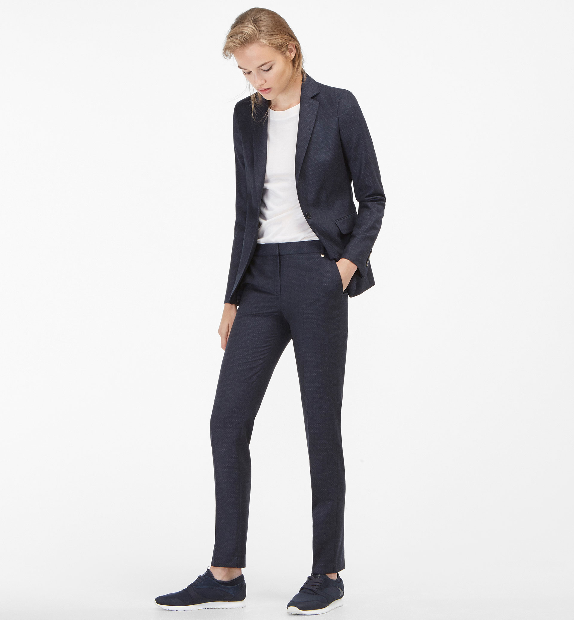 POLKA DOT SUIT TROUSERS