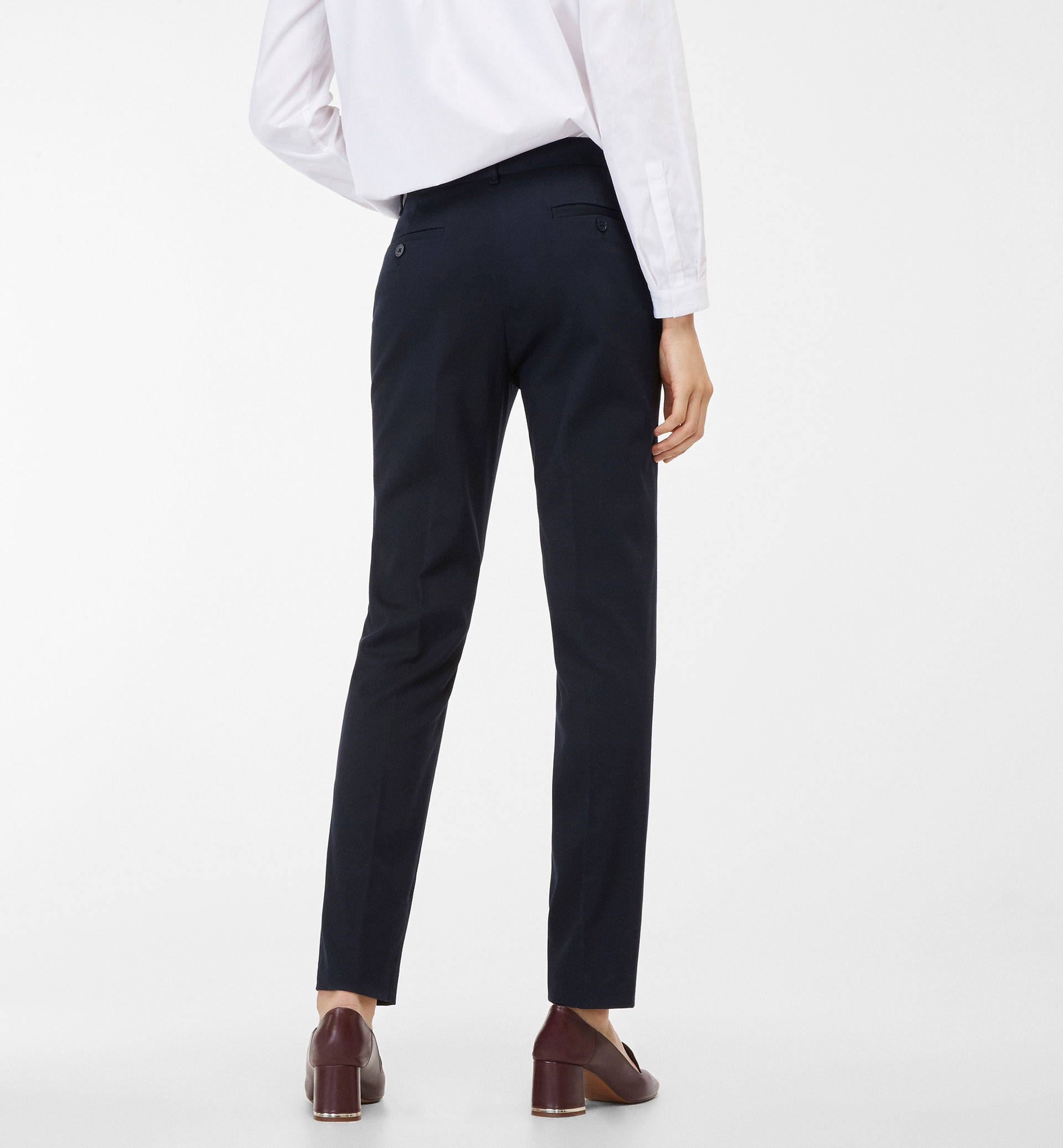 BASIC NAVY BLUE TWILL TROUSERS