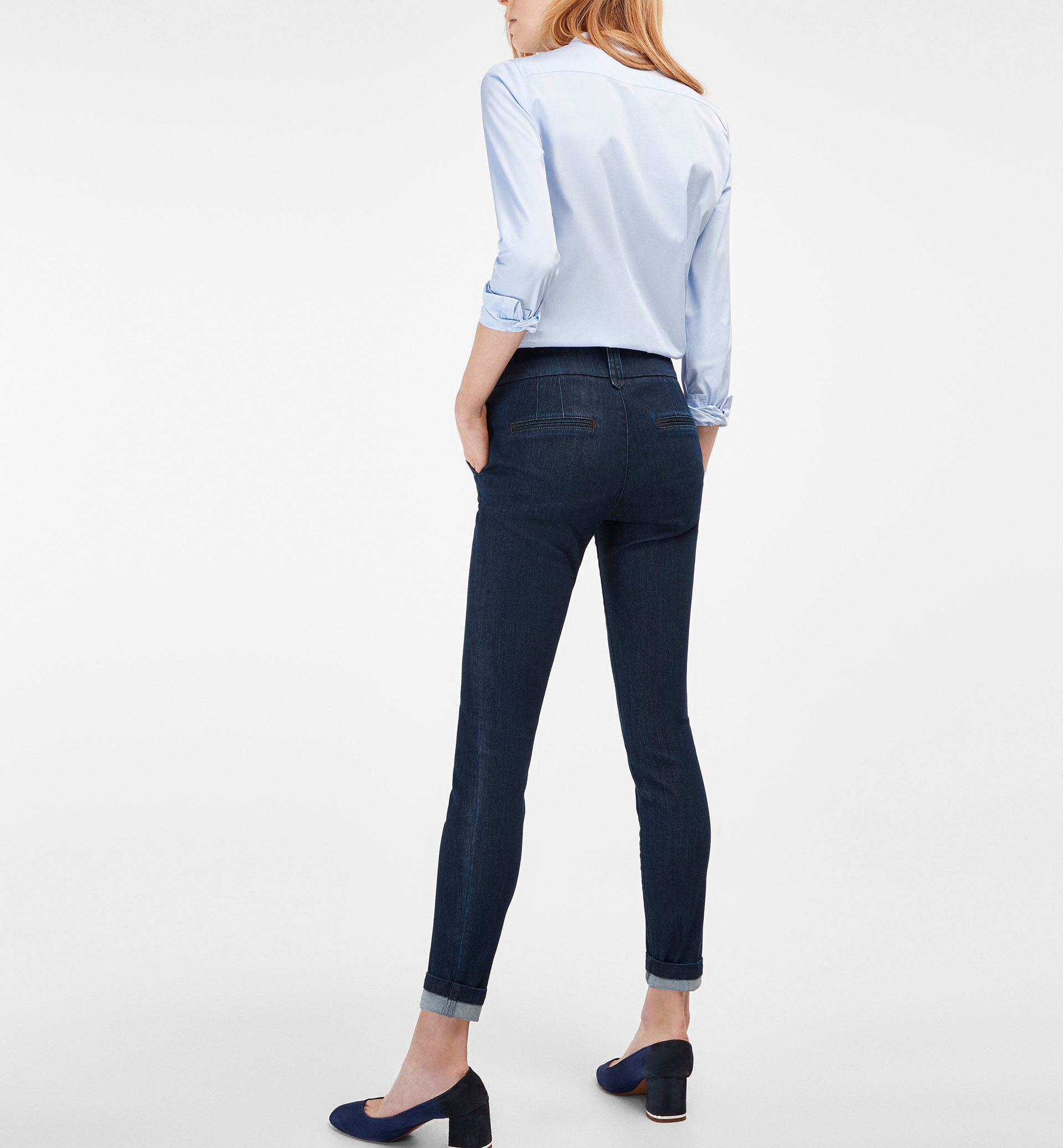 SKINNY CHINOS WITH POCKET DETAIL