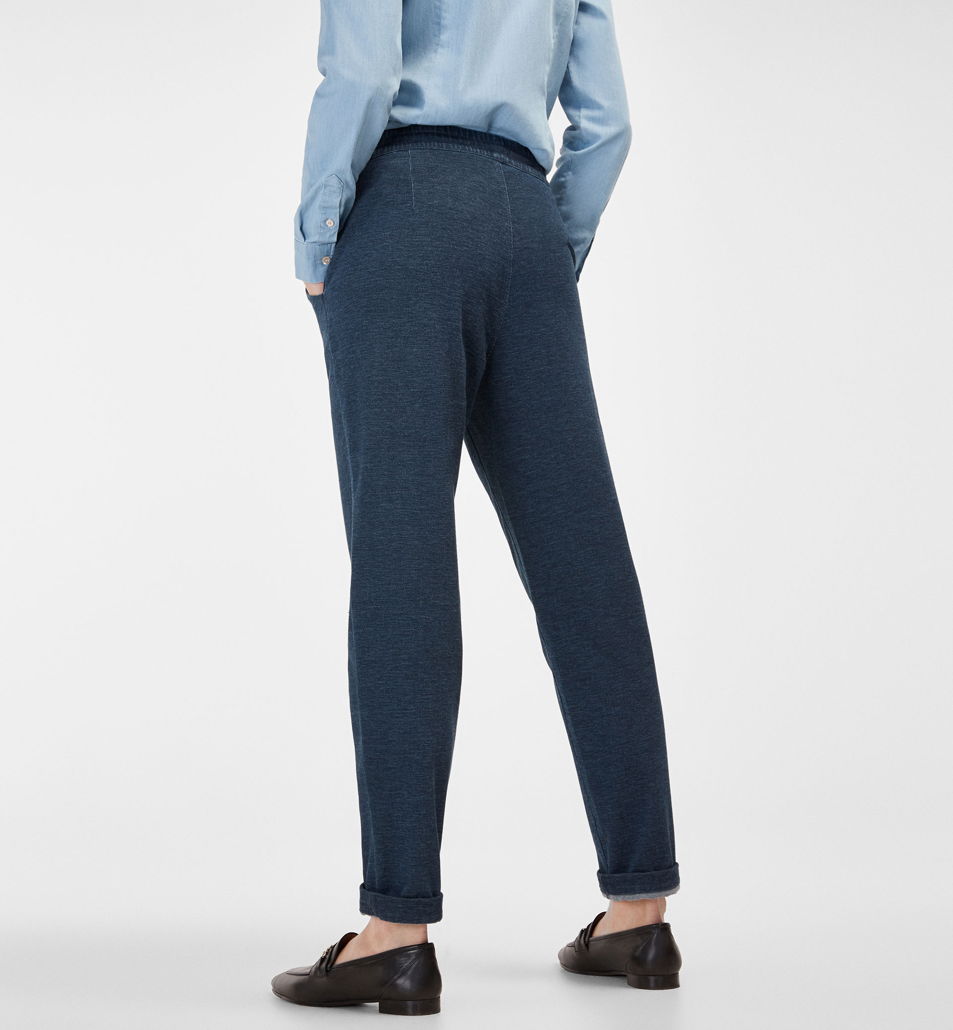 JOGGING TROUSERS WITH TURN-UP HEM DETAIL