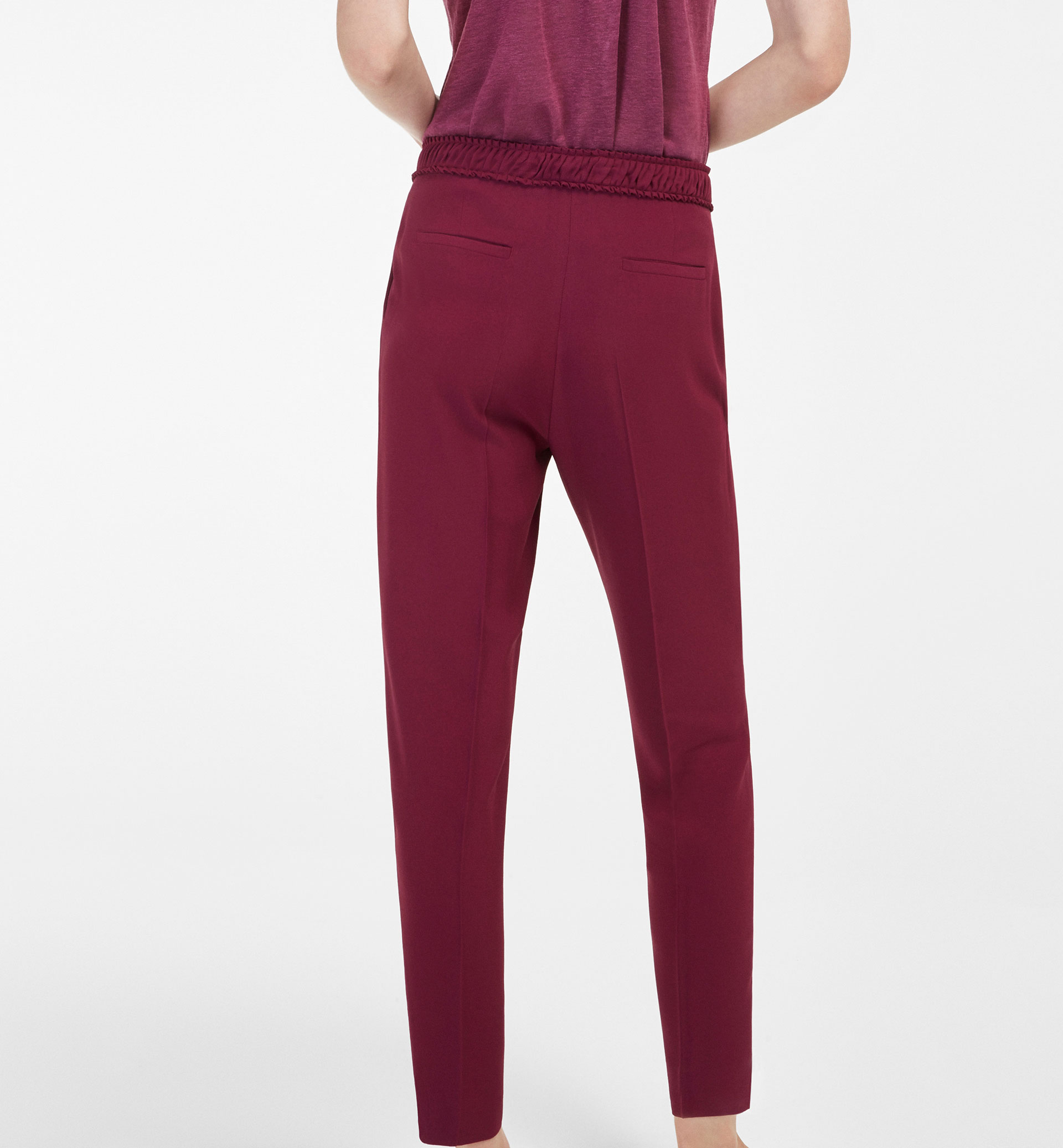 BOW DETAIL FLOWING TROUSERS