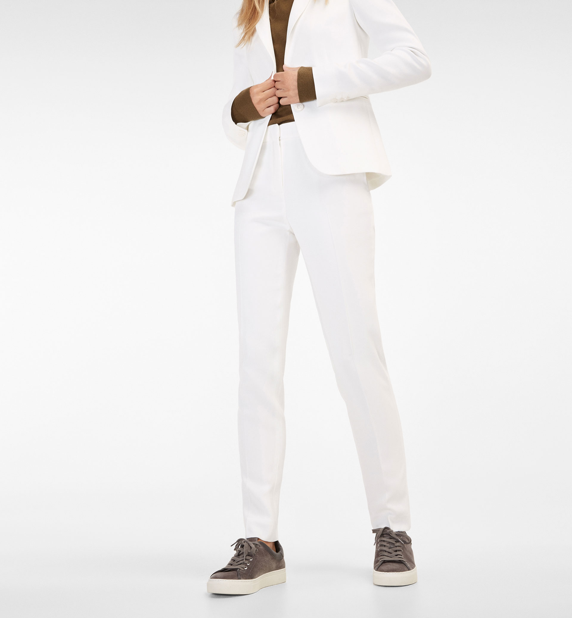 CREPE SUIT TROUSERS