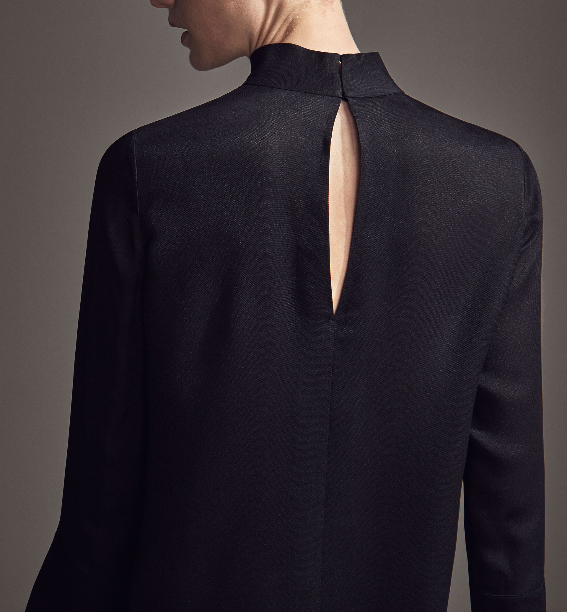 LIMITED EDITION HIGH NECK SILK BLOUSE