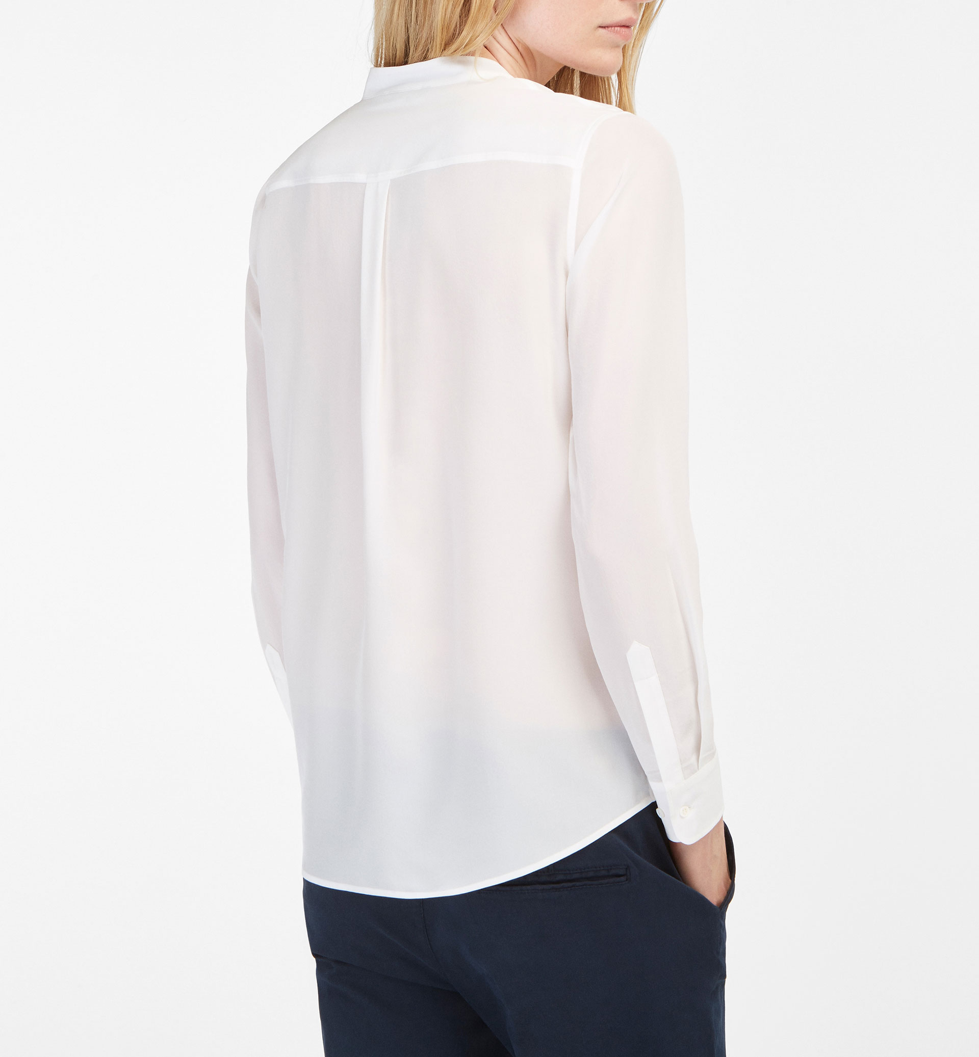 SILK SHIRT WITH POCKETS DETAIL