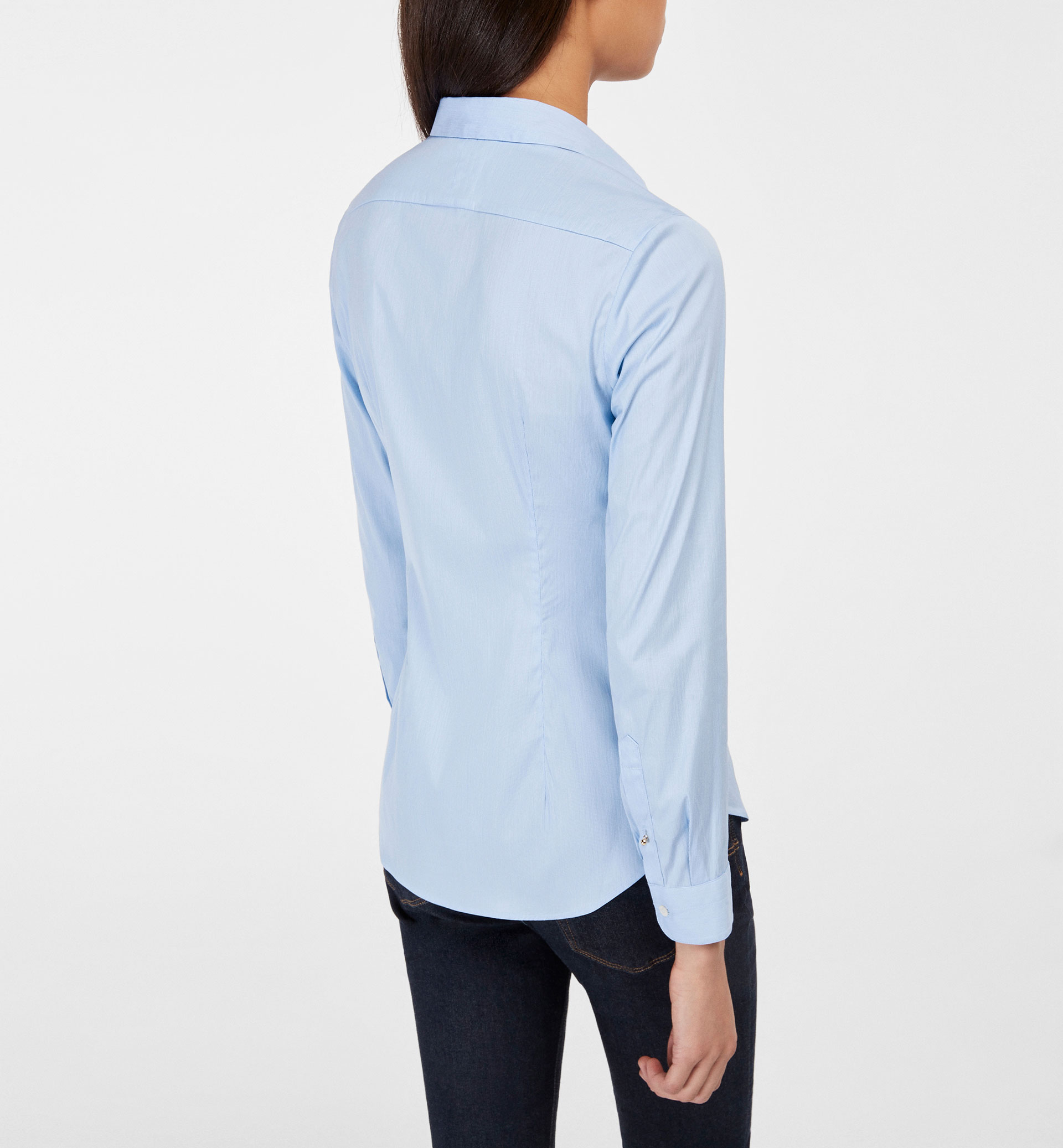 BASIC SHIRT WITH SLEEVES DETAIL
