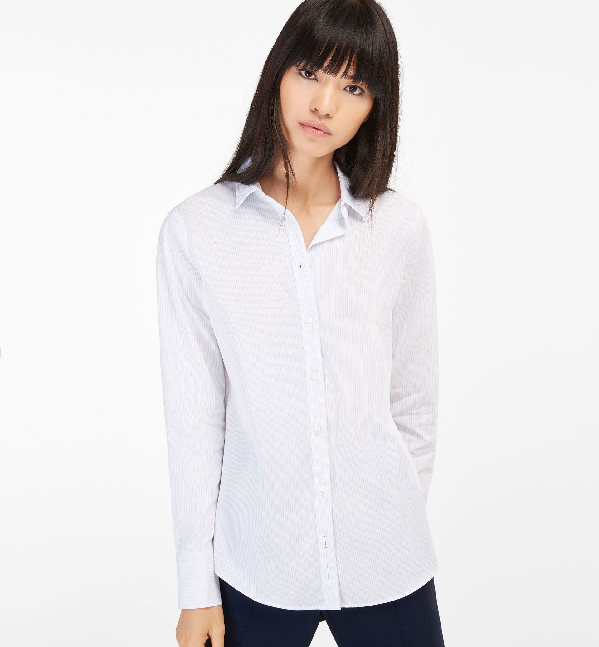 FADED STRIPED COTTON SHIRT